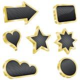 czarny projekta elementu goldenand set Zdjęcie Royalty Free
