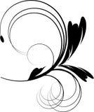 czarny projekta kwiatów ornament ilustracja wektor