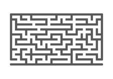 Czarny prostokątny labitynt gemowi dzieciaki Łamigłówka dla dzieci Labirynt zagadka Płaska wektorowa ilustracja odizolowywająca n ilustracji