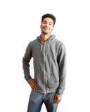 czarny przypadkowy facet Fotografia Royalty Free