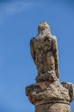 Czarny ptak, orzeł statua Zdjęcie Royalty Free