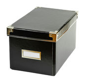 czarny pudełka dokumenty zdjęcia stock