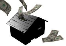 czarny pudełka domu pieniądze Zdjęcia Stock