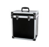 Czarny pudełko na białym tle fotografia stock