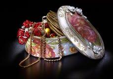 czarny pudełka jewellery Obrazy Royalty Free