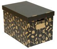 czarny pudełka karton Obrazy Royalty Free