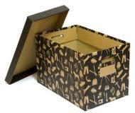 czarny pudełka karton otwarty Obrazy Stock