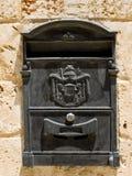 czarny pudełka poczta Zdjęcie Royalty Free