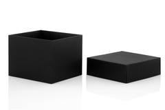 czarny pudełka prezent Zdjęcia Stock