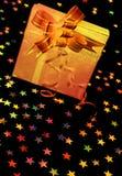 czarny pudełka prezenta gwiazdy Obraz Stock
