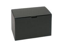 czarny pudełka pusty papier Fotografia Stock