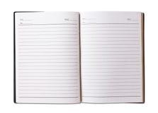 czarny pustej pokrywy notatnik Obrazy Royalty Free