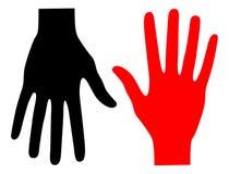 czarny ręki czerwień Zdjęcie Royalty Free