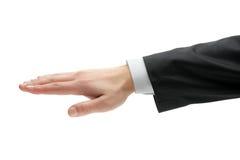 czarny ręki męski kostiumu widok Fotografia Royalty Free