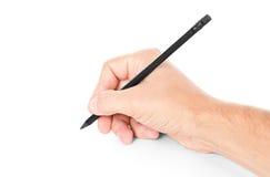 czarny ręki ołówek Obraz Stock