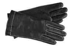 czarny rękawiczek rzemienne kobiety Fotografia Stock