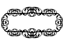 czarny rabatowy dekoracyjny Zdjęcie Stock