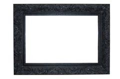 czarny ramowy ozdobny Zdjęcia Royalty Free