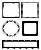 czarny ramowy ustalony biel Zdjęcia Royalty Free
