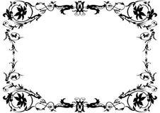 czarny ramowy white ornamentacyjny Obrazy Stock