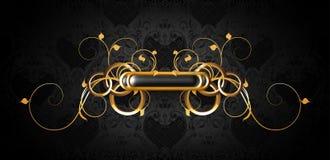 czarny ramowy złocisty luksus royalty ilustracja