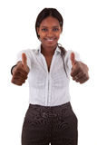 czarny robią kciuki kobiety dwa czarny potomstwa Fotografia Stock
