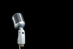 czarny rocznik mikrofonu Fotografia Royalty Free