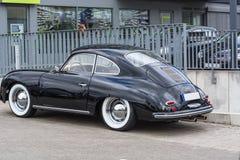 Czarny rocznik Porsche 1600 Obraz Royalty Free