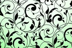 Czarny rocznika ornament Zdjęcia Royalty Free