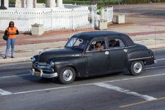 Czarny rocznika samochód Zdjęcia Stock