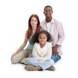 czarny rodzinny międzyrasowy biel zdjęcie royalty free