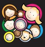 czarny rodzinny montaż ilustracja wektor