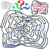 Czarny round i szpotawy labirynt ilustracja wektor