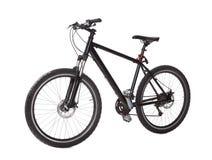 Czarny rower górski Zdjęcie Royalty Free