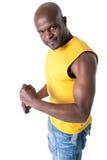 czarny rozochocony mężczyzna Zdjęcie Royalty Free