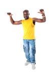 czarny rozochocony mężczyzna Fotografia Stock