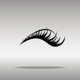 Czarny rzęsy ikony guzika loga symbolu pojęcie wysokiej jakości zdjęcia royalty free