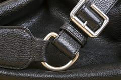 Czarny Rzemiennej torby zakończenie Up Fotografia Royalty Free