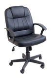 Czarny rzemienny biurowy krzesło obraz royalty free
