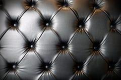 Czarny rzemienny luksusowy kanapy tekstury tło zdjęcie royalty free