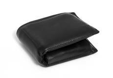 Czarny rzemienny portfel Zdjęcie Royalty Free