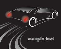 czarny samochód Ilustracja Wektor