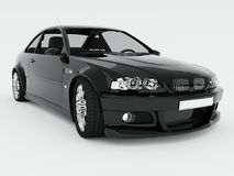 czarny samochód odizolowywający sport Zdjęcie Royalty Free
