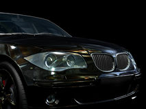 czarny samochód sportu Ilustracji