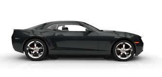 czarny samochód szybko Obraz Royalty Free