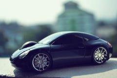 Czarny samochód w retro pojęciu Fotografia Stock