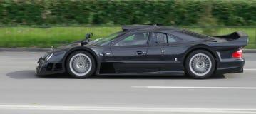 czarny samochód wyścig zdjęcia stock