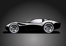 czarny samochodowi sporty Fotografia Royalty Free