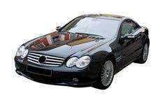 czarny samochodowi sporty Zdjęcia Royalty Free