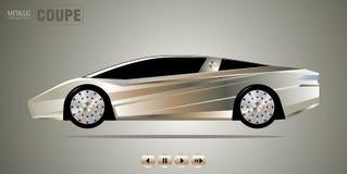 czarny samochodowy sport Obraz Royalty Free